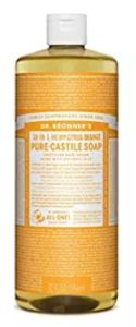Dr. Bronner's Magic Liquid Soap comes in several varieties.