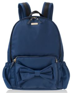 Girl's Bow Backpack by Kate Spade New York in Navy. Also available in Bouganville Pink. Bloomingdales.com.