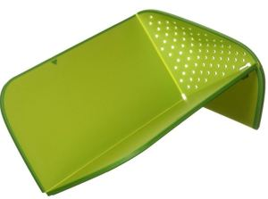 Joseph Johnson 60081 Model cutting board folds to create a colander or to pour, a perfect multi-use gadget for a vagabond cook.
