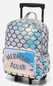 Mermaid Squad rolling backpack. ShopJustice.com.