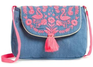 For on-the-go activities that don't require a backpack, this chambray Mini Boden embroidered shoulder bag is casual and practical, but still pretty and girlie. Even the interior is lined with a cute floral fabric. Nordstrom.com.
