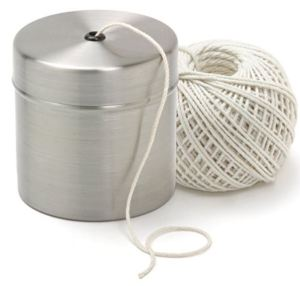 Norpro Stainless Steel Holder with Cooking Twine. Corral your twine, and use the holder for other stuff as needed, remember you can cook in stainless steel.