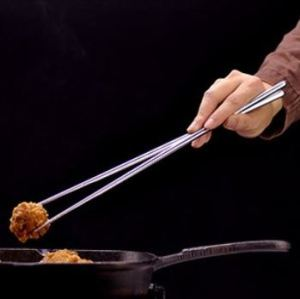 I said they were really long....Stainless steel cooking chopsticks have their advantages, but some people prefer bamboo or wooden ones.
