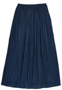 CarolWrightGifts.com may not be your first (or last) fashion destination. But drop six bucks (when on sale!) for a cotton crinkled maxi skirt in Navy for endless Summer possibilities. It is available in other colors too.