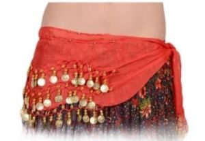 Finish your Summer outfit off with flair. Request your preferred colors for the hand-sewn Belly Dancing Coin hip scarf at GypsyRose.com.