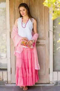 Strawberry Frills skirt by artist Shashi Sehgal is available on fair-trade National Geographic shop site, Novica.com.