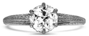 Didn't inherit an Edwardian antique as a wealthy scion of Downton Abbey? No one need know. The Cowan Ring is an authentic antique Edwardian treasure. Featuring a classic round diamond solitaire, the band has a feminine Nature-themed leaf garland milgrain design that is timeless. Get the ring while you still can at BrilliantEarth.com, or, if it's gone, find an equally lovely alternative. (And revisit Downton Abbey at https://www.pbs.org/wgbh/masterpiece/shows/downton-abbey/.)