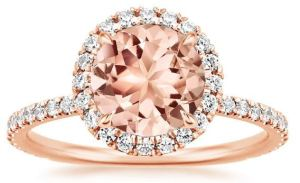 One reason that so many ShoppingGirls love Morganite is that the tawny, blush pink color is so flattering. It dresses up and dresses down with ease. It's a very wearable gem, even in a huge size. The Waverly ring features a gorgeous Morganite center stone, sparkling within a halo of small round diamonds that also highlight the shoulders of the band. The warmth of rose gold is a perfect match for this gemstone. Available at BrilliantEarth.com.