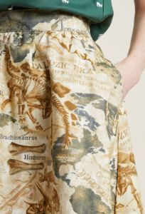 Going to the Tar Pits or the Badlands for some fossil hunting? Dirt won't be noticeable on this Dino Map print skirt. Wear it when you're visiting Sue T. Rex. Lively Vibe by Retrolicious. Modcloth.com.