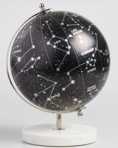 Worldmarket Constellation Globe is inspiring for Astronomy students and star-gazers. The marble base will serve as a paperweight or impromptu bookend. After you've completed your study of the stars, you will have a pretty decorative piece for your home.