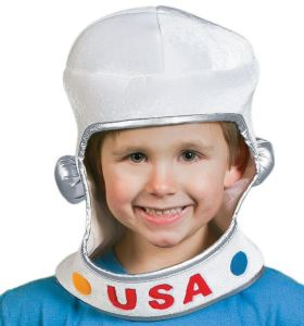 Affordable at less than $10. Sized to fit everyone. Cute. Soft. The Astronaut Helmet can be used for playtime after Halloween. orientaltrading.com.