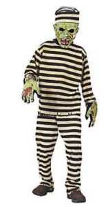 Under $10. A timelessly scary, and funny, Boy's Zombie Convict Costume will please gruesome little corpselettes. orientaltrading.com.