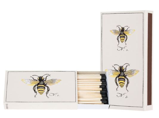 Bee Emblem Decorative Matchbox. https://beeswaxco.com/product/bee-emblem-matchbox/