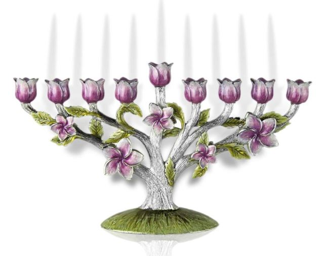 Floral Tree of Life Hanukkah Menorah. https://www.traditionsjewishgifts.com/floral-tree-of-life-hanukkah-menorah-QUMEN46C.html