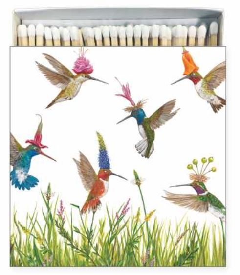 Hummingbirds Square Decorative Boxed Matches. https://museumoutlets.com/decorative-boxed-matches/hummingbirds-square-boxed-matches