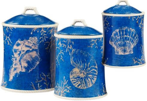 Certified International Seaside 3 Piece Canister Set at Overstock.com
