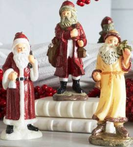 Exclusive, hand-painted Santa candles in several styles. The more Santas, the better! Old Word Santa Candles. Wisteria.com