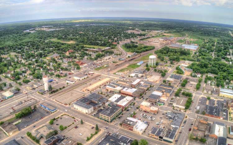 brainerd-mn-aerial-view