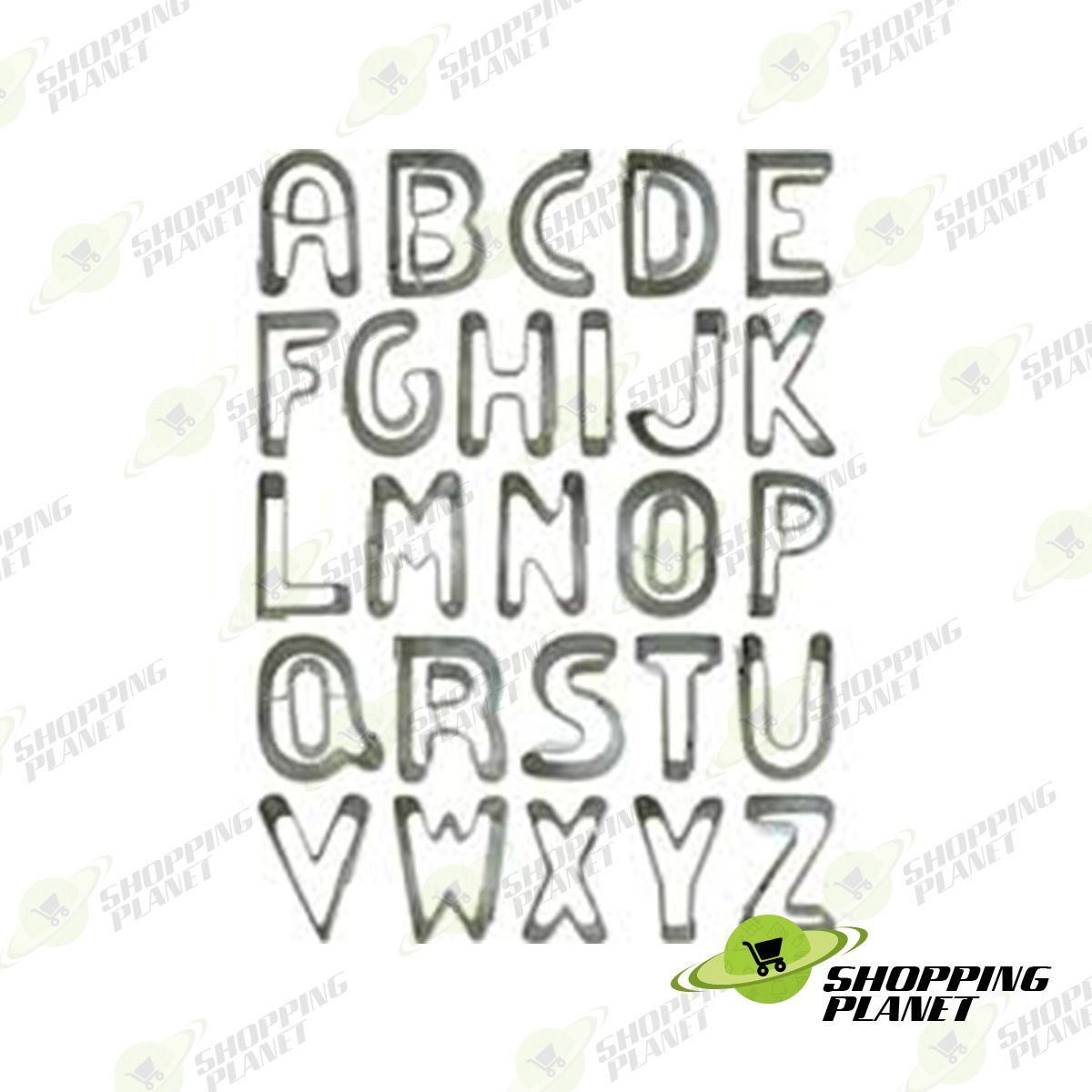 Stainless Alphabet Cookie Cutter