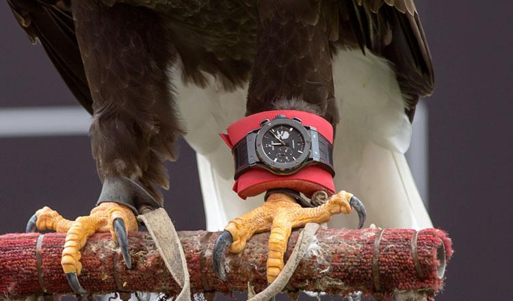 As águias do Benfica juntam-se à equipa de futebol da Hublot
