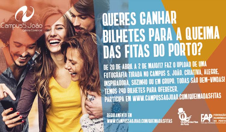 Ganhar bilhetes para a Queima das Fitas do Porto? É possível com o Campus S. João