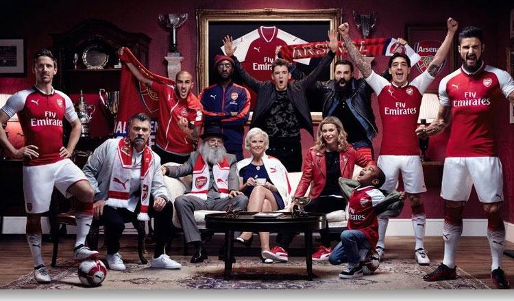 Puma e Arsenal FC apresentam equipamento oficial da época 2017/18