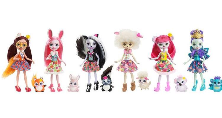 Mattel apresenta 'Enchantimals', a nova linha de Bonecas da Natureza