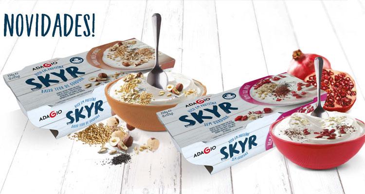 Adagio lança os primeiros iogurtes Skyr com cereais e frutos secos