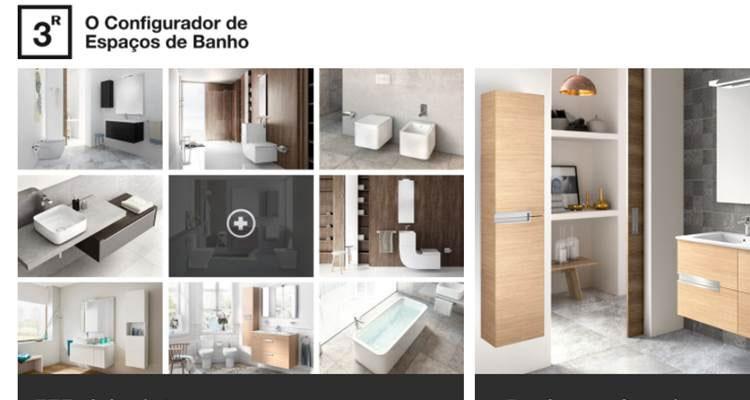 Conheça o 3R: O configurador de espaços de banho da Roca