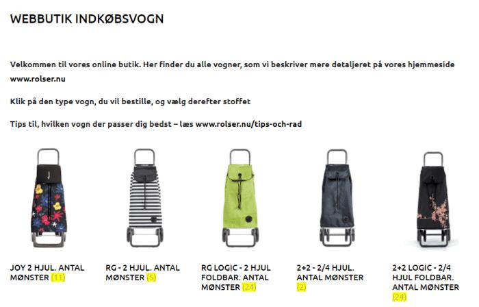 Rolser Danmark indkøpvsvogn