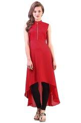 Libas-Womens-Straight-Kurta-Red-online-shopping-zaroori-india