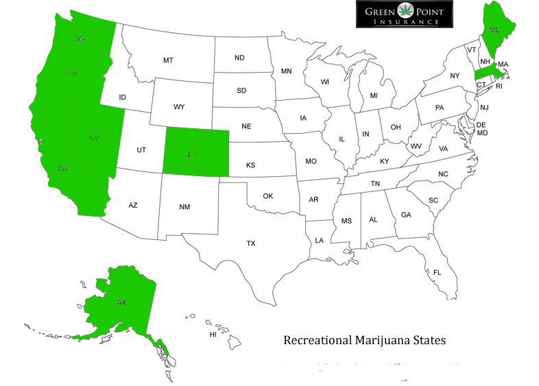 States that sale recreational marijuana