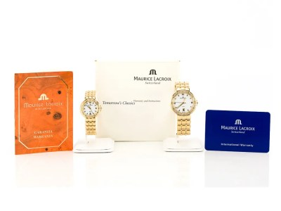 Preowned Maurice Lacroix 18ct Gold Watch His & Hers