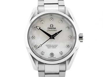 Preowned Omega Seamaster Aqua Terra Diamond Set Watch