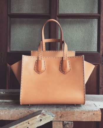 leather tote with flap