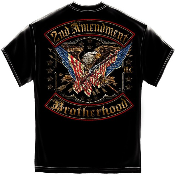 2nd Amendment Brotherhood Double Flag Foil T-Shirt