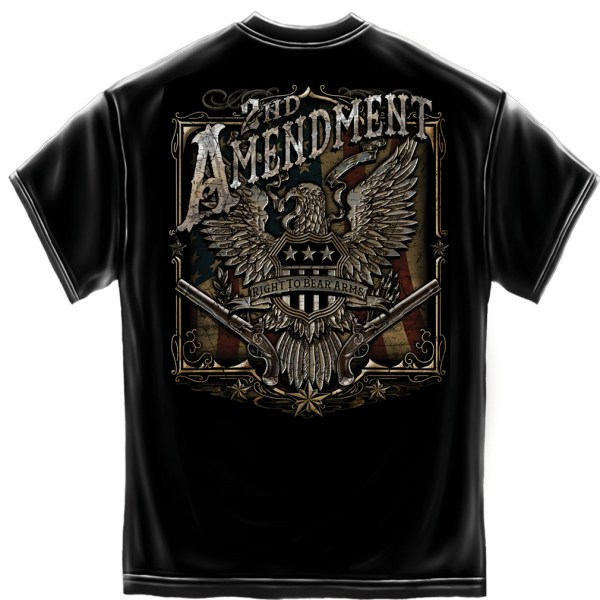 2nd Amendment Eagle Black Foil T-Shirt