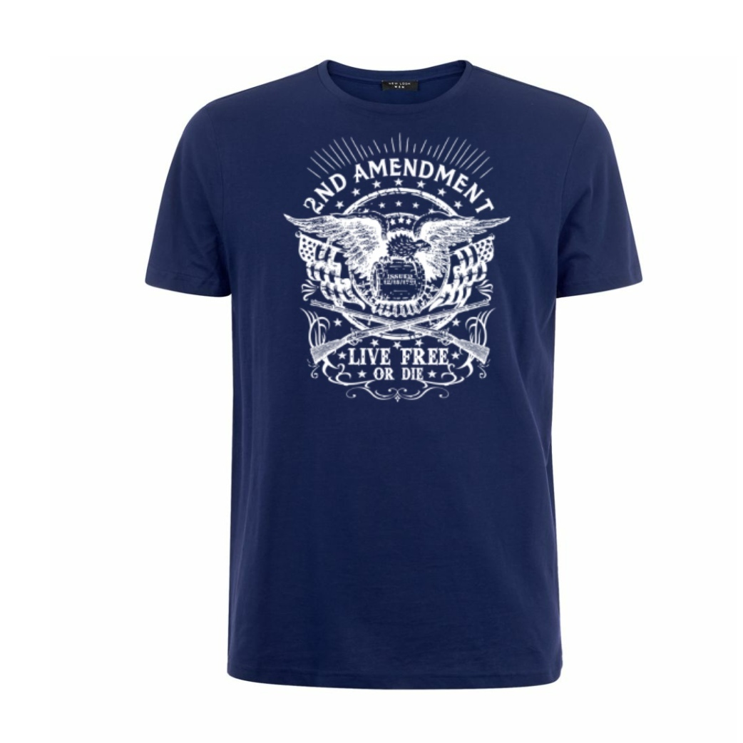 Live Free Or Die 2nd Amendment T-Shirt blue