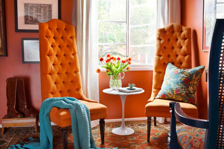 How To Decorate Your Home With Orange Photos Shop Room Ideas