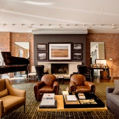 Houzz Leather Sofa Living Room Modern Small Decor Ideas The Secret Homes Of Facebook Billionaires Shoproomideas Founder Industrial New York Loft Apartment Family Brown Condo Decorating