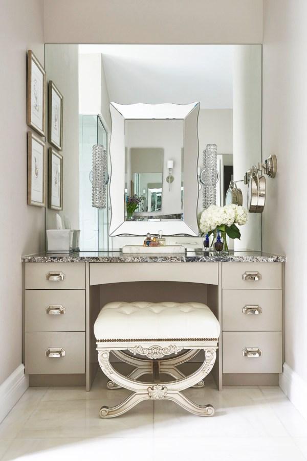 Small Vanity Makeup Table in Closet Pics