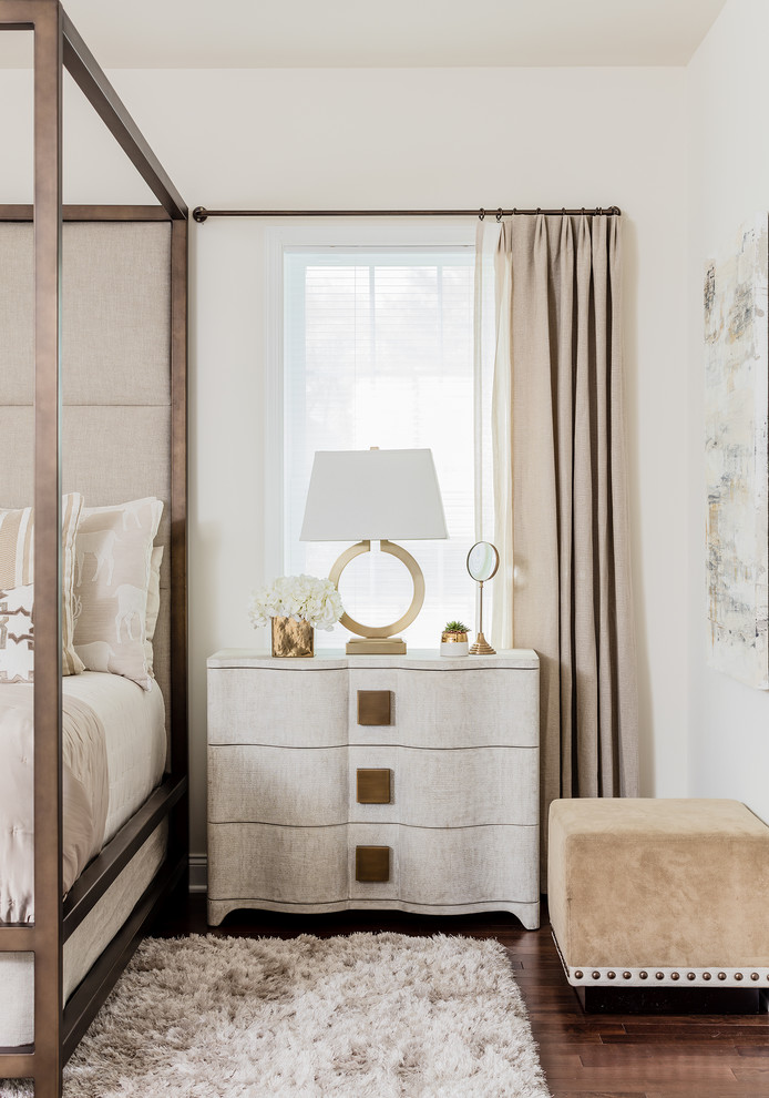 Transitional Bedroom Traditional Furniture Girly Feminine Side Table Cream Off White Interior Design Style Glam Glamorous Luxury Bedroom Ideas Shop Room Ideas Neutrals Gold Crcle Lamp Shop Room Ideas