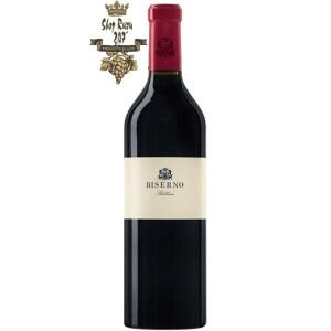 Biserno khi nhìn sẽ thấy có màu đỏ ruby đậm. Rượu có hương vị phức hợp hương thơm của dâu đen, cà phê mới xay và cam thảo có cấu trúc nhẹ nhàng với tamin mịn
