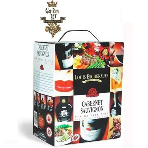 Rượu vang bịch Louis Eschenauer Cabernet Sau 5L có mẫu mã đẹp, đặc trưng, uống ngon, hợp khẩu vị đối với người tiêu dùng