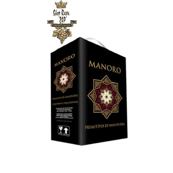 Rượu Vang bịch Ý Manoro BIB 3000ml có nồng độ 13,5% thuộc loại vang Italy. Nó mang trong mình một màu đỏ đậm