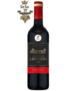 Rượu Vang Đỏ Bordeaux Cht Lhorens Cuir Med 2016 khi nhìn sẽ thấy có màu đỏ đậm sâu. Rượu mang hương thơm của các loại quả nhiệt đới
