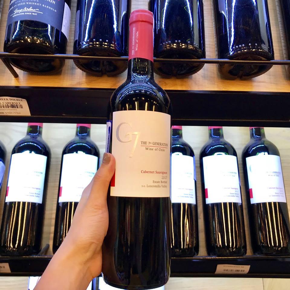 Bán rượu vang g7 cabernet sauvignon tại Bình Dương giá tốt nhất