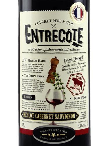 Bán rượu Vang Pháp Entrecote Melot Cabernet Syrah tại Kiên Giang ưu đãi nhất