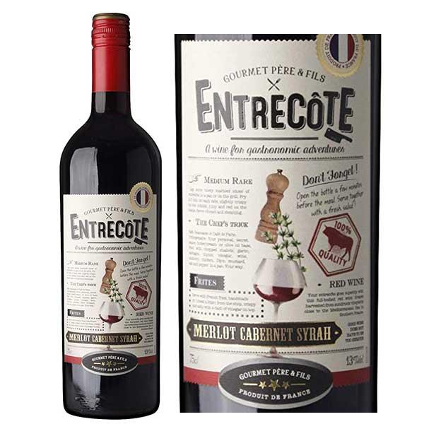 Bán rượu Vang Pháp Entrecote Melot Cabernet Syrah tại Bình Phước ưu đãi nhất