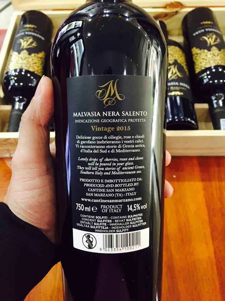 Rượu vang m malvasia nera tại Tây Ninh giá tốt nhất - Shop rượu 247